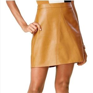 Bar III Faux Leather A-LINE Skirt